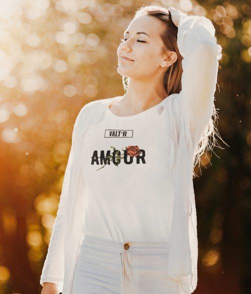 Valt'R   T-shirt femme amour
