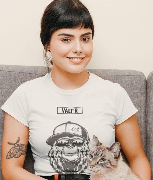 Valt'R   T-shirt femme ours à la casquette