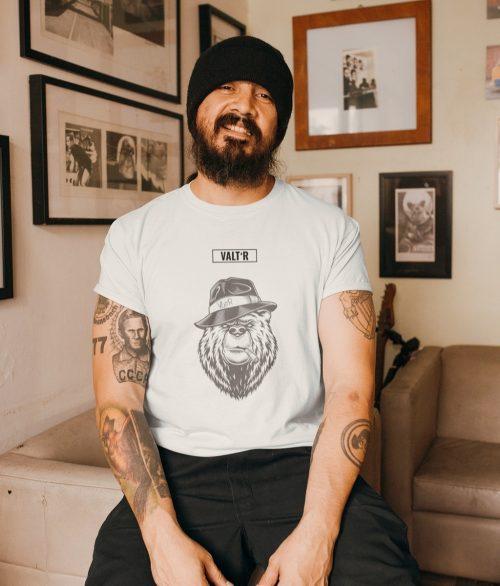 Valt'R | T-shirt homme ours qui fume