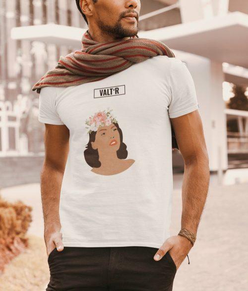 Valt'R | T-shirt homme femme aux roses