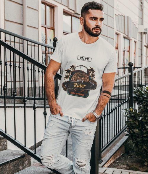 Valt'R | T-shirt homme ours rider