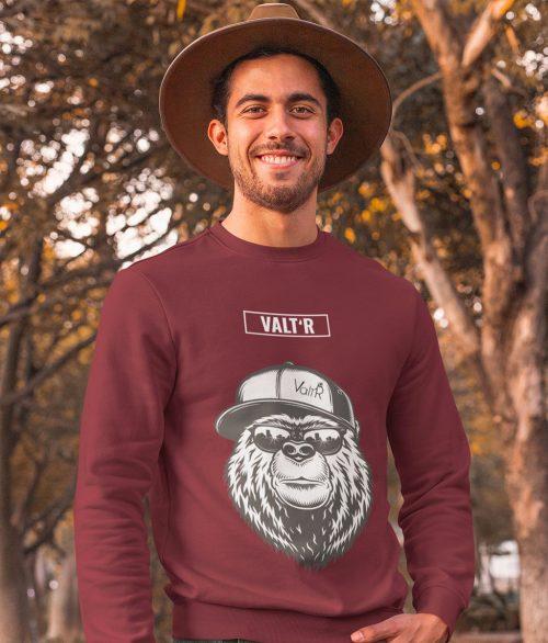 Pull adulte en coton BIO & Éthique ours à la casquette