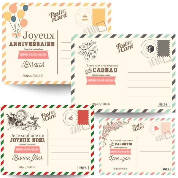 Cartes cadeaux VALT'R