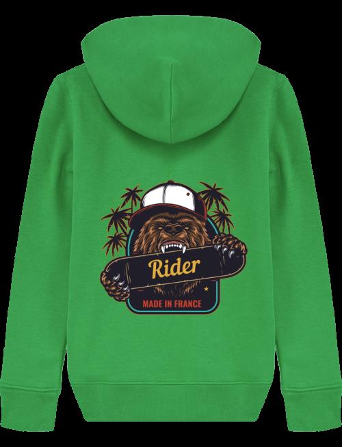 VALT'R | Sweat enfant ours rider | Dessin au verso