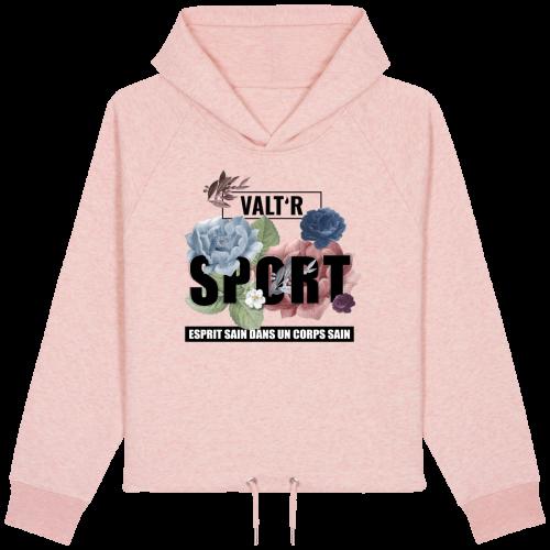 VALT'R   Sweat femme sport en coton BIO rose