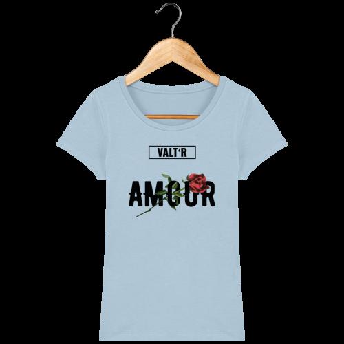VALT'R | T-shirt femme en coton BIO amour bleu ciel