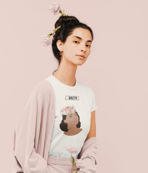 VALT'R | T-shirt femme «La femme aux roses»