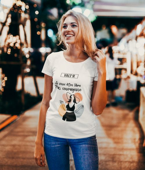 VALT'R | T-shirt femme «je veux être libre»