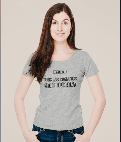 T-shirt en coton BIO et Éthique «Tous les monstres sont humains»