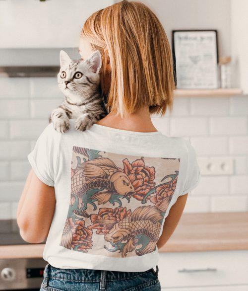T-shirt femme carpe köi