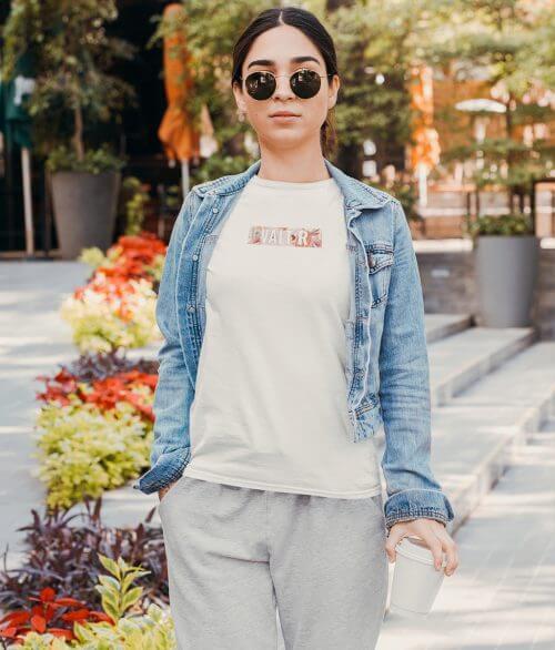 VALT'R   T-shirt femme logo fleuris