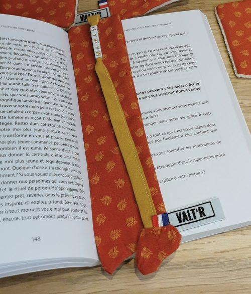 VALT'R   marque page orange VALTR