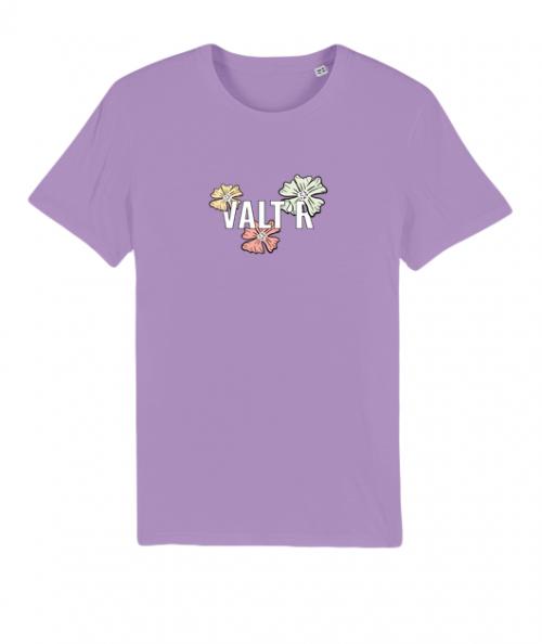 VALTR | T-shirt violet en coton bio fleurs
