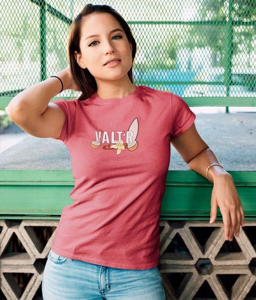 T-shirt femme en coton bio – «cocotier»