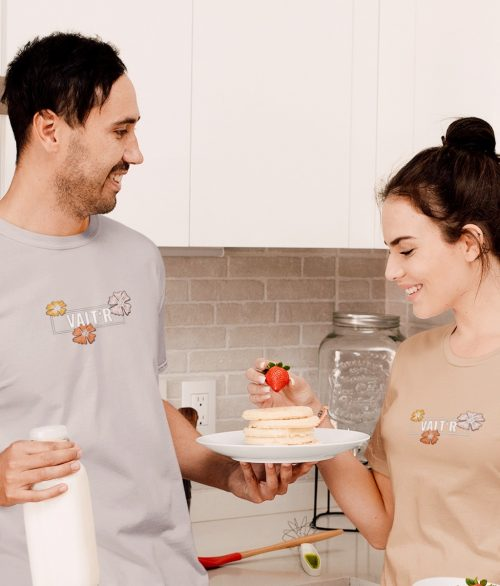 T-shirt unisexe en coton bio – «Fleurs»