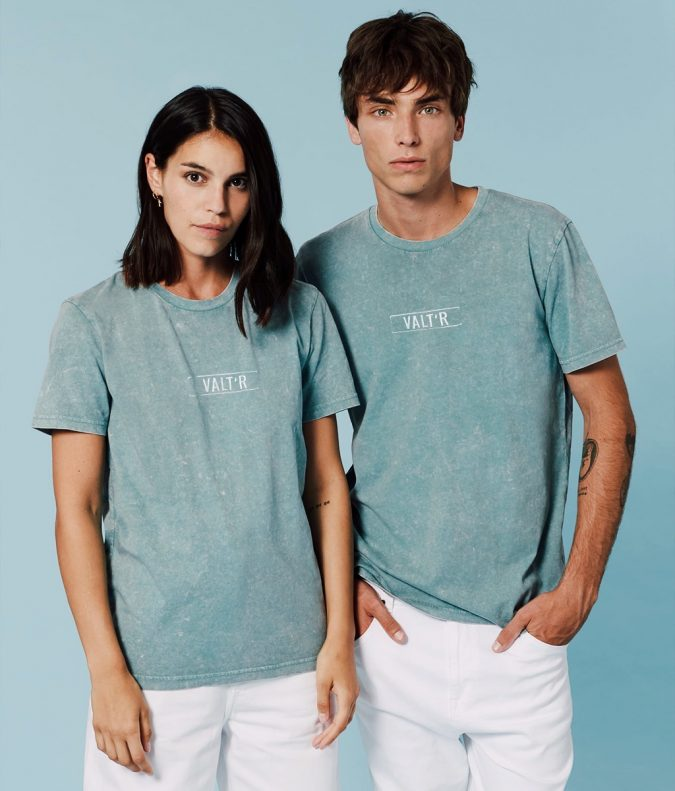 T-shirt valtr unisexe vintage logo brodé